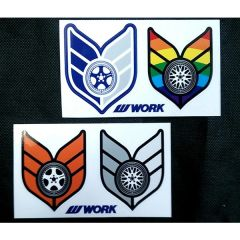 WORK Wheels Stickers