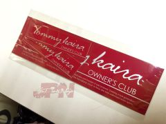 "Tommykaira ""Owner's Club"" sticker set of 3"