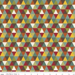 0.57mtr Remnant - Riley Blake - Giraffe Crossing 2 - Diamond - Multi