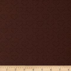 1.02mtr Remnant - Clothworks - Chocoholics - Hearts - Brown