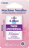 Twin Universal Machine Needles - 80/12 - 4mm