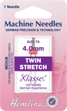 Twin Stretch Machine Needles - 75/11 - 4mm