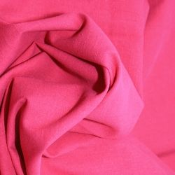 Linen Look Cotton - Cerise