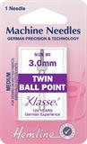 Twin Ball Point Machine Needles - 80/12 - 3mm