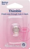 Thimble: Metal - Size 17, Medium