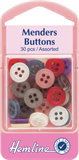 Mender Buttons: Assorted Colours - 30pcs