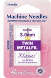 Metalfil Twin Machine Needles - 80/12 - 3mm