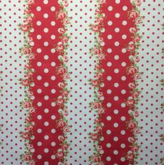 0.43mtr Remnant - Dotty Lines - Strawberry