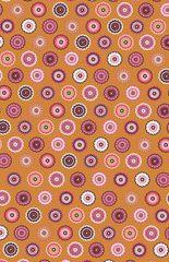 1.68mtr Remnant - Makower - Folk Lace - Orange