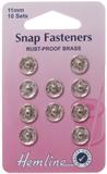 Sew On Snap Fasteners: Nickel - 11mm
