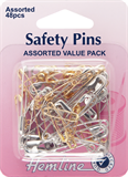 Safety Pins: Assorted Value Pack - 48pcs