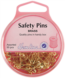 Safety Pins: Brass - 19mm/23mm - 50pcs
