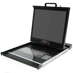 StarTech.com 1U 19 - Inch Rackmount LCD Console with 16 Port Multi-Platform KVM (RACKCONS1916)