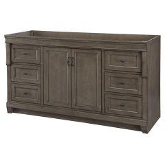 Home Decorators Collection NADGA6022DS Naples 60 in. W Vanity Cabinet Only in Distressed Grey
