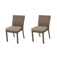 Hampton Bay 65-23311B Beverly Patio Dining Chair Beige Cushions 2-pack