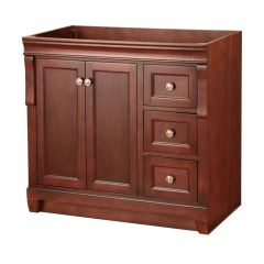 Foremost NATA3621D Naples 36 in. W x 21-5/8 in. D x 34 in. H Vanity Cabinet Only in Tobacco