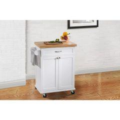 Hampton Bay120306008-W Ashby White Kitchen Cart