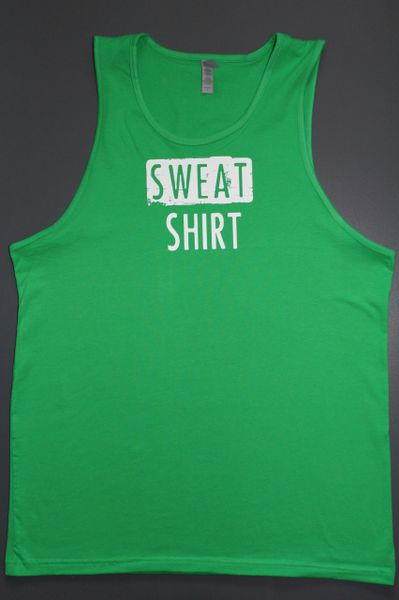 "Fitness ""Sweat Shirt"" cotton tank"