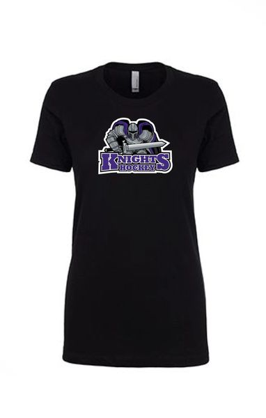 AHU Ladies Slim Fit Lightweight tee with Knight logo