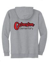 Galveston Unisex Zip Hoodie Galveston Elementary back print