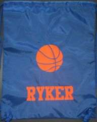 Custom Basketball Cinch Back Pack