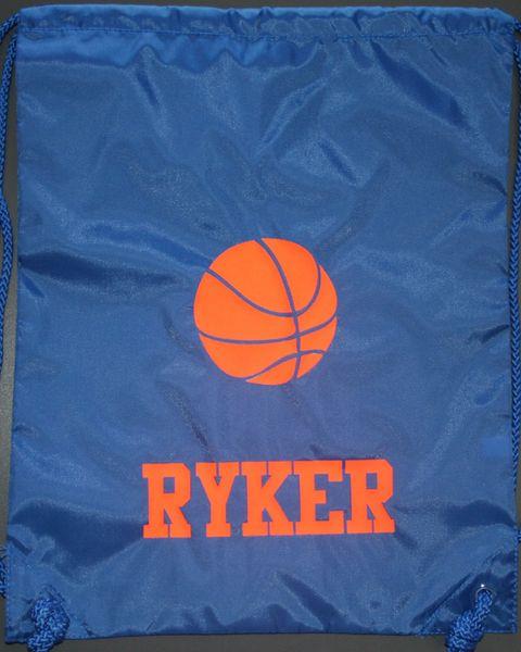 Custom Basketball Cinch Back Pack
