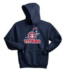 Titans Unisex Adult Pullover Hoodie with Front Print