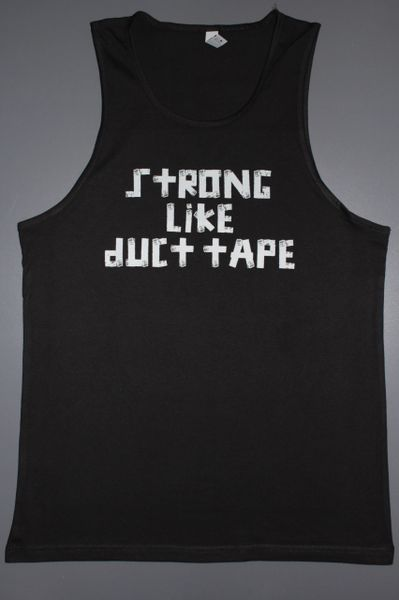 "Fitness ""Strong Like Duct Tape"" cotton tank"