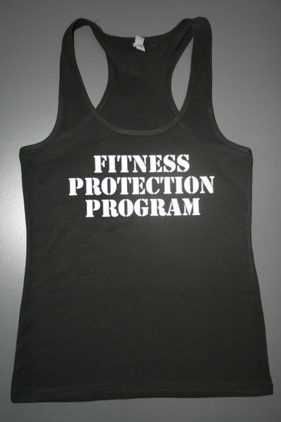 "Fitnesss ""Fitness Protection Program"" Cotton/Poly/Spandex RazorbackTank"