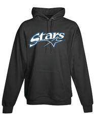 Stars Baseball YOUTH black long sleeve pullover hoodie