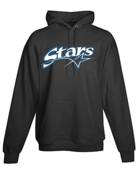 Stars Baseball YOUTH black long sleeve pullover hoodie