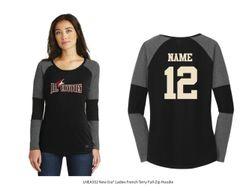 Jr. Coyotes Ladies Triblend Baseball Long Sleeve Tee