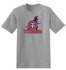 Titans HANES Unisex 50/50 shirt with Front Print