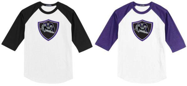 AHU Jr Knights Adult Unisex Baseball Shirt