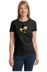 Killer Bees Ladies tee with bee logo