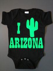 "Baby Onesie ""I Heart Arizona"""