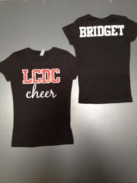 Custom Cheer/Dance/Pom/Drill/Team shirt- adult