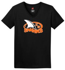 Sharks Ladies V-neck tee