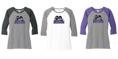 AHU Knights Ladies Baseball tee