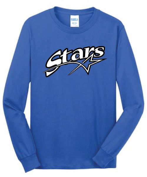 Stars Baseball Unisex Long Sleeve Screen Print Tee ADULT