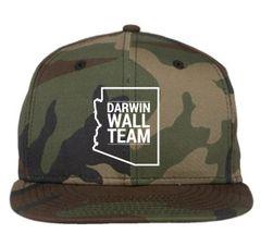 Darwin Wall Team New Era, Camo, Snapback Hat