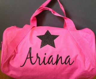 Custom Duffle bag with name and star