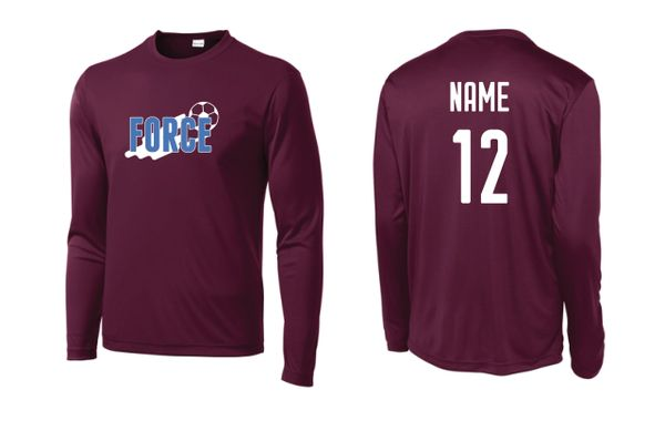 FORCE Adult Dry-wick Long Sleeve