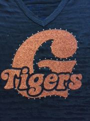 "Globe Cheer Fan Gear Unisex V with ""G Tigers"" design"