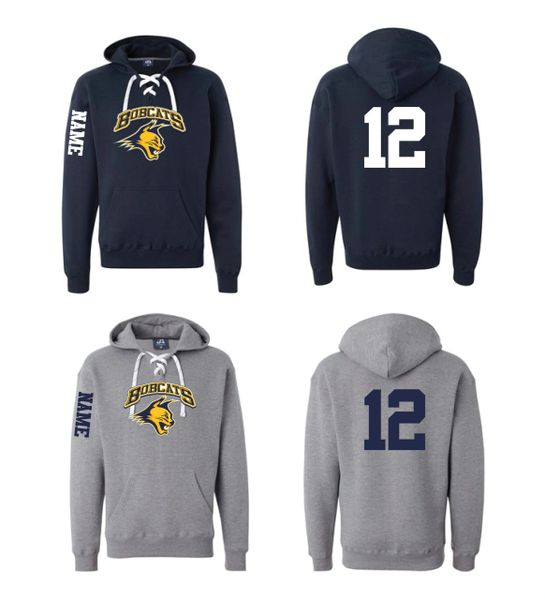Bobcats J. America Unisex Lace Up Pullover Hoodie