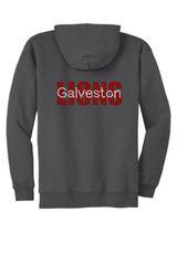 Galveston Unisex Zip Hoodie with Galveston Bling