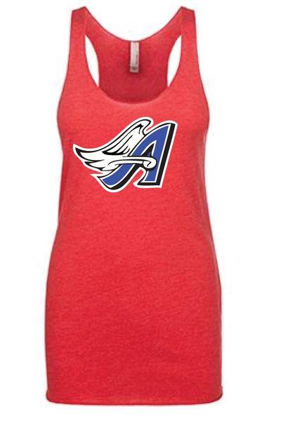 Angels Softball Triblend Razor Tank with full logo