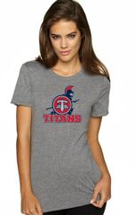 Titans Ladies' Junior Fit TriBlend shirt with Front Print