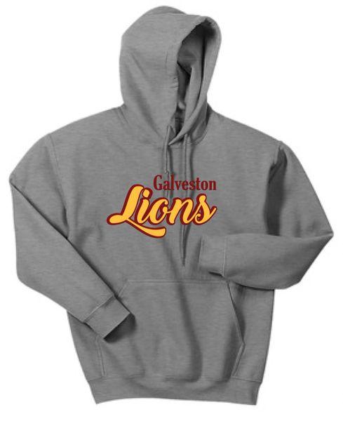 Galveston Unisex Pullover Hoodie Galveston with cursive Lions