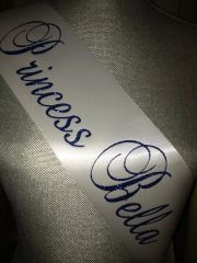 "Custom ""Princess ____"" Sash"
